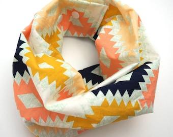 Aztec print baby scarf / Child scarf / Baby bib / Scarf bib / Drool bib / Drool scarf