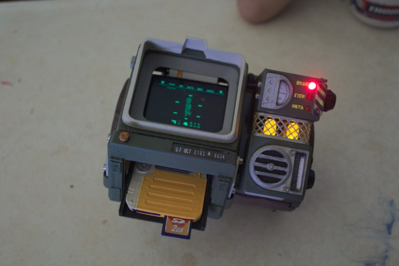3d printed, hand crafted, Fallout 76 Pip Boy 2000 Mk VI