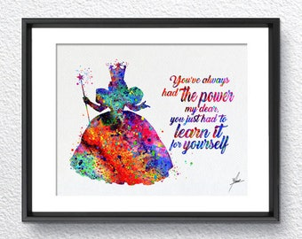 Glinda the Good Witch Wizard of Oz Movie Home Decor Art Print Wall Art Poster Giclee Wall Decor Art Home Decor Wall Hanging Item367