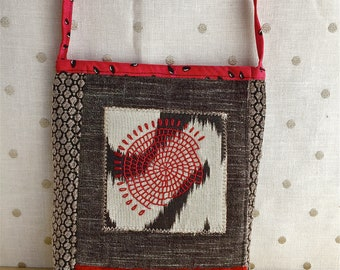 Embroidered crossbody casual bag