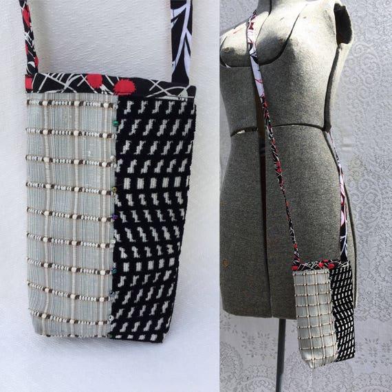 5d6d04499f Festival party cell phone bag small Handmade Crossbody