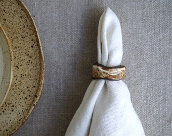 Ceramic Napkin Rings, Handmade Napkin Holders, Ceramic Table Decor,