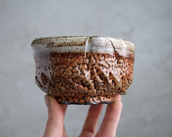 Handmade Ceramic Chawan, Shino Chawan, 12 oz, Unique Shino Glaze, Tea Bowl, High Fired Ceramics, Ceramic Art, Tea Ceremony Gift