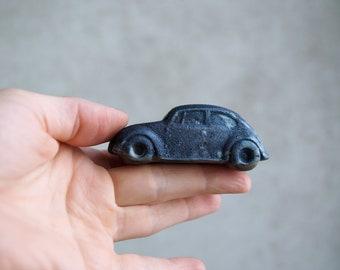 Raku VW Beetle Figurine, Copper Raku, Porcelain Arts, Ceramic VW Car, Decorative Car Miniature, Gift Idea.