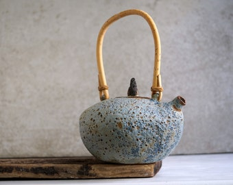 Handmade Ceramic Teapot, Volcanic Lava Texture, Real Iceland Stone, Iceland Nature Inspiration, Unique Holiday Gift for Tea-Ceremony Lovers.