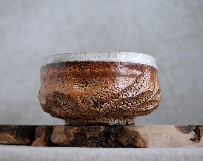 Featured listing image: Handmade Ceramic Chawan, Shino Chawan, 16 oz, Unique Shino Glaze, Tea Bowl, High Fired Ceramics, Ceramic Art, Tea Ceremony Gift