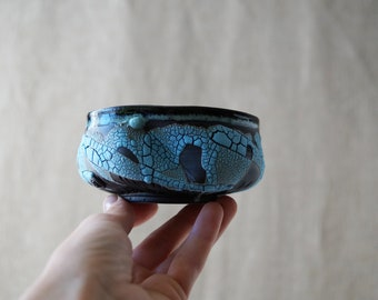Handmade Ceramic Matcha Bowl, 8 oz, Chawan, Tea Cup, Unique Crackle Glaze, Porcelain, Ceramic Art, Tea Ceremony Gift #2