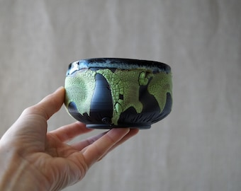 Handmade Ceramic Matcha Bowl, 8 oz, Chawan, Tea Cup, Unique Crackle Glaze, Porcelain, Ceramic Art, Tea Ceremony Gift #2