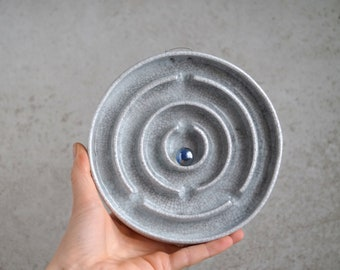 Handmade Ceramic Maze, Crackle White Glaze, Wall Hanging Game, Unique Ceramics, One of The Kind Art Object, Exclusive Pottery Gift