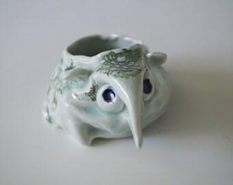 Handmade Succulent Planter, Unique Whimsical Cacti Pot, Ceramic Housewarming Piece, Porcelain, Ceramic Art Sculpture Pottery Gift #5