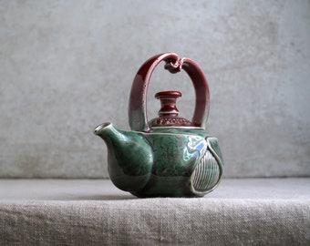 Handmade Ceramic Teapot, Porcelain Exclusive Art, Beetle Theme Collection, 16 oz, Unique Tea Ceremony Gift, Nature Inspired Ceramics Art,