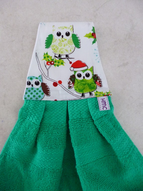 Owl Hand Towel for Kitchen or Bath Decor Gift