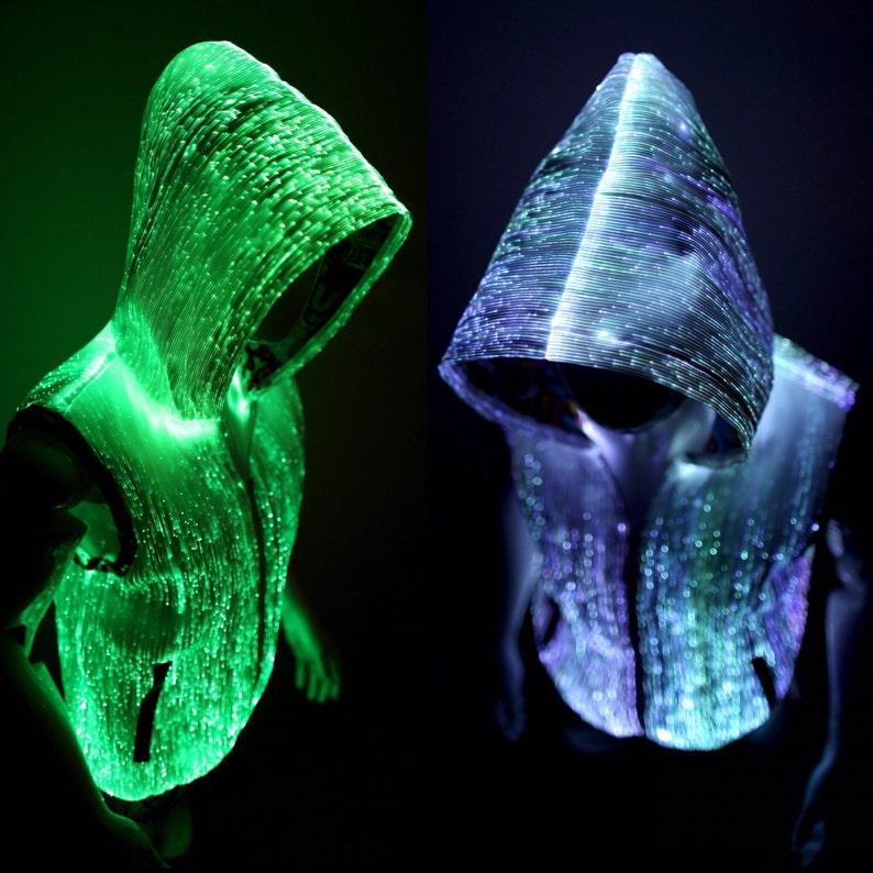 3c621cbc Light Up Vest Cool Hoodie for Men LED Jacket Burning Man EDM | Etsy