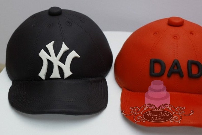 7eed0fa005a Baseball Cap cake topper  Dad Birthday Cake   Fathers Day