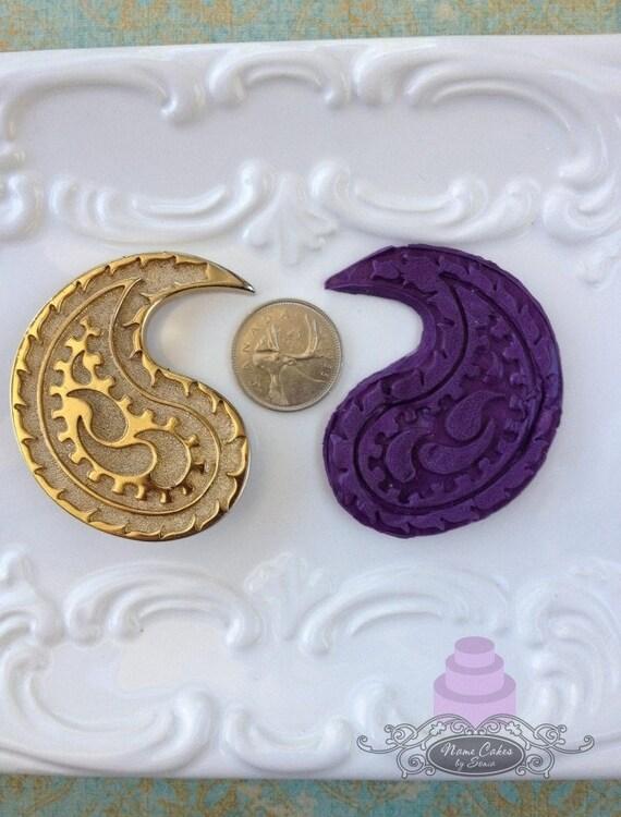 Steampunk Paisley Form Yin Und Yang Hochzeitstorte