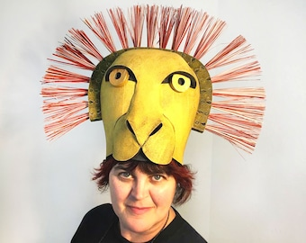 Amazing Lion King Mufasa Simba Mask Headdress Headpiece Child + Adult Sizes IN  STOCK Costume Head Hat Masquerade Mask Hand Made By Tentacle Studio