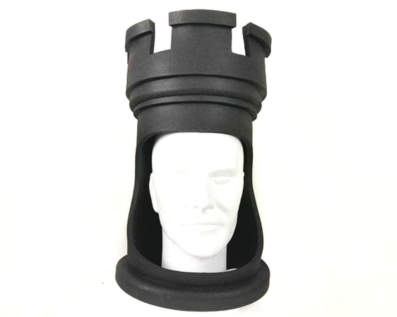 Rook, Castle Chess Headdress Hat, Chess piece theme party chessmen costume  mask, Unique design handmade by Tentacle Studio