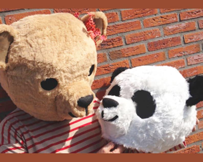 29e1cd101bc4 Couples costume Panda   Teddy Bear Masks one of each head