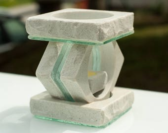 Raw stone oil burner- FREE SHIPPING,Stelar6,oil diffuser,wax melt,aroma öl brenner,aroma lamp,essential oil burner,unique,marble
