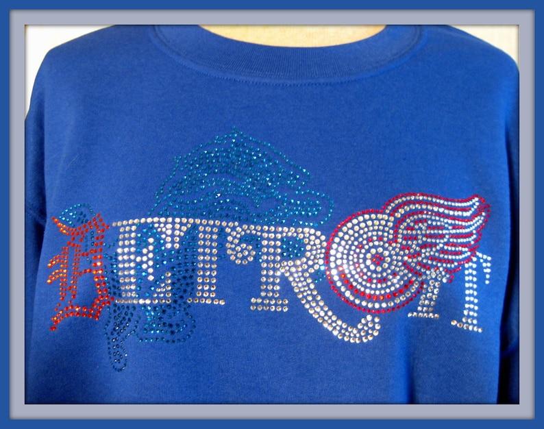 Sweatshirt Detroit/'s TEAMS in Blue