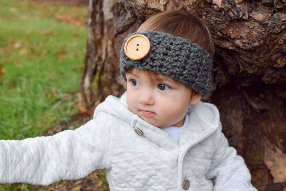 Adjustable Crocheted Ear Warmer Headband Toddler Ear Warmer  c24ac0c4484