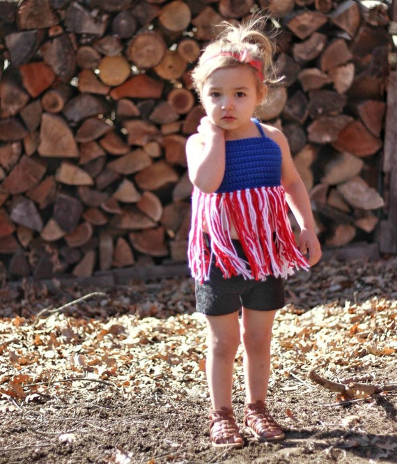 3a70f172d9a170 Boho Fringe Toddler Crop Top • Memorial Day Outfit • 4th of July Crop •  Infant Crop Top • Halter Top • Toddler Festival Top • Beach Outfit •