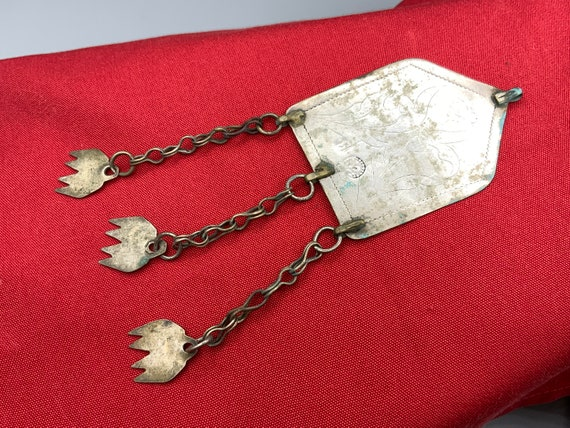 Hallmarked Engraved Egyptian Pendant - Siwa Oasis