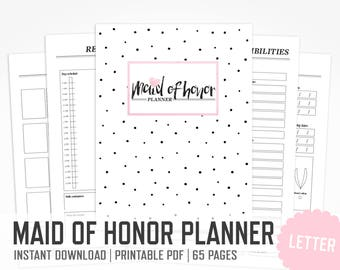 photo about Maid of Honor Printable Planner named Maid of honor binder Etsy