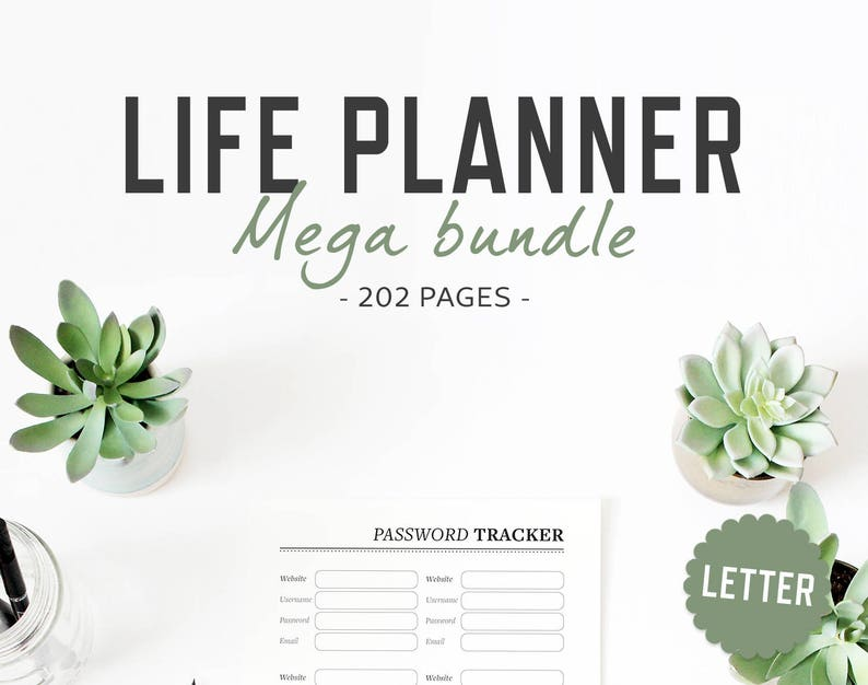Life Planner / Letter size / Life Organizer Mega Bundle image 0