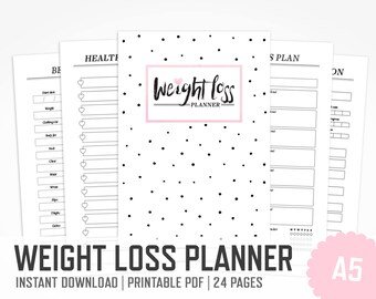 Weight Loss Planner Happy Planner Fitness Happy Planner