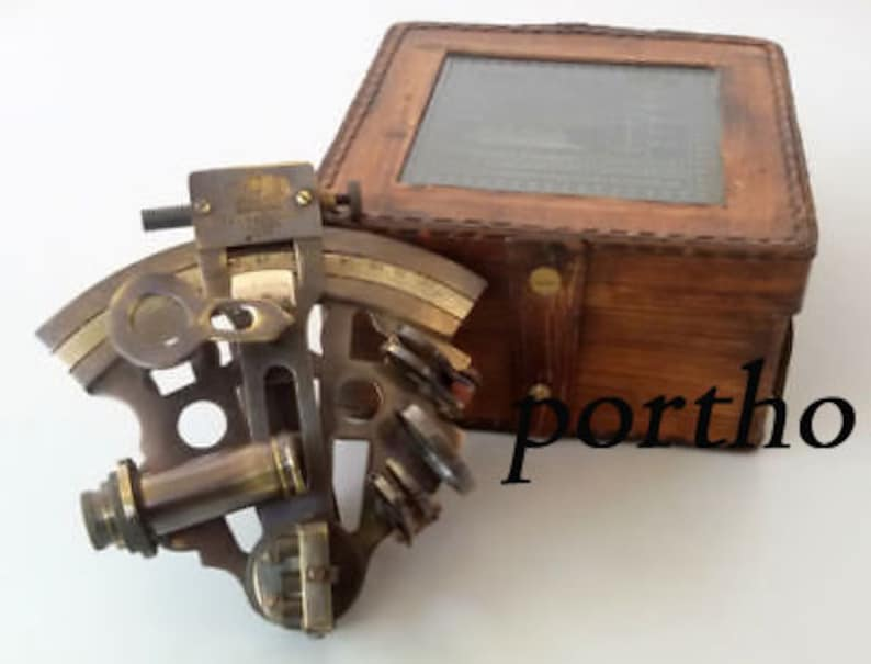Kelvin Hughes Antique Maritime Brass Sextant Solid Brass Astrolabe Instruments Sufficient Supply Maritime Navigational Instruments Antiques