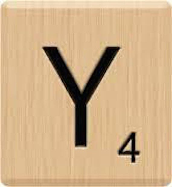 Beautiful scrabble letter tiles singles letter y etsy image 0 thecheapjerseys Images