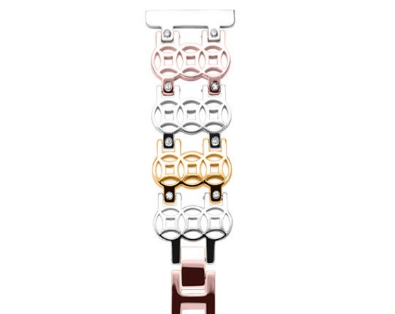 Watch Band FLOWER - 22mm - more colors available - stainless steel