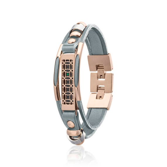 Bracelet Hyde made for Fitbit Flex 2 - Grey/Rose Gold