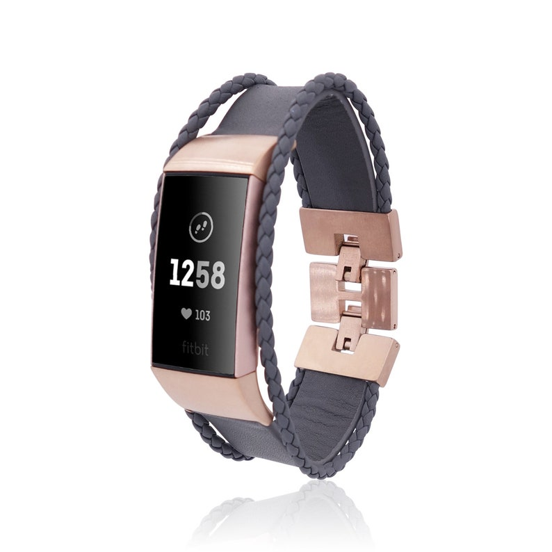 aa5eff55b01e Fitbit Charge 3 Band Aurel made from leather and stainless