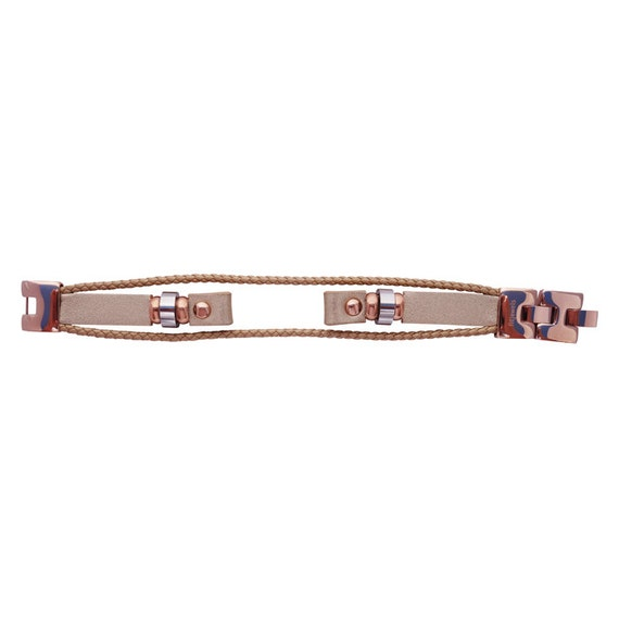 Interchangeable leather band Fusion  for Flex (1st generation) - ROSE GOLD - by fitjewels -
