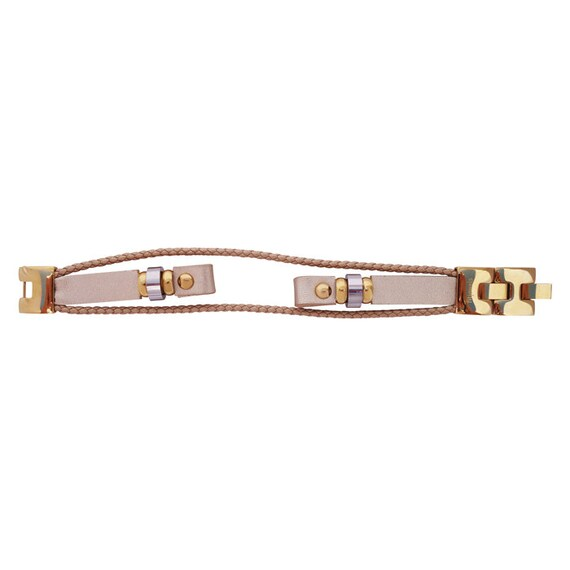 Interchangeable leather band  for Flex (1st generation)- GOLD - by fitjewels -