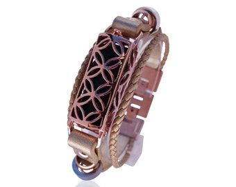 Bracelet Fusion - Flex Jewelry - 18K ROSE GOLD - Flex Jewelry - made from real leather