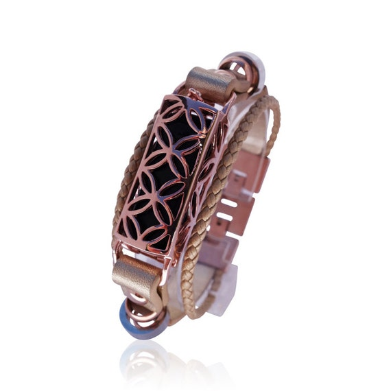 Bracelet  for Flex (1st generation) - Flex Jewelry - 18K ROSE GOLD - Flex Jewelry - made from real leather