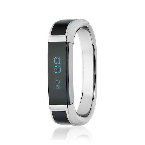 Bangle ARTEMIS - for Fitbit Alta - Alta HR - Ace - Jewelry -Stainless Steel & Black Enamel - more colors available