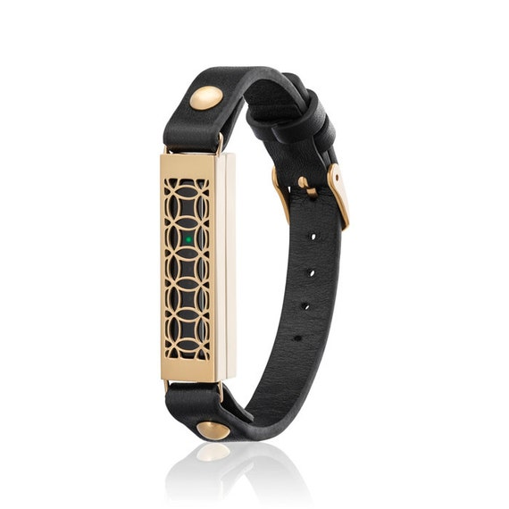 Bracelet HYDE 2 made for Fitbit Flex 2 - Black/ Gold