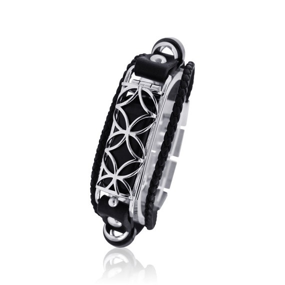 Flex  bracelet Fusion for Flex (1st generation) - made from stainless steel and leather