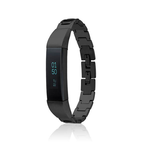 Bracelet SOSO - for Fitbit Alta - Alta HR - Ace - Jewelry - BLACK -  Stainless Steel