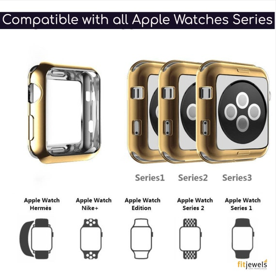 Apple Watch Cover - available colors Silver, Gold, Rose Gold and Black - fits all Apple Watch Series!
