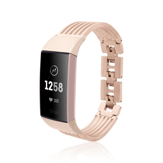 Fitbit Charge 4 / 3 - Bangle Ashbury - Silver or Rose Gold matte finished