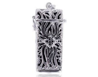 Pendant LILO - Flex Necklace - made from Silver - Rhodium plated