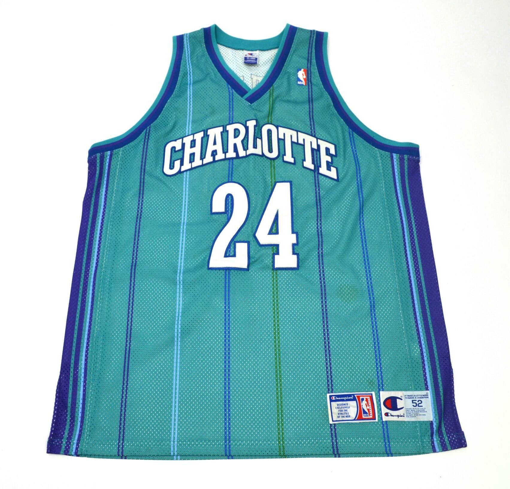 best service 93d2c e7663 Charlotte Hornets Jamal Mashburm Authentic Jersey