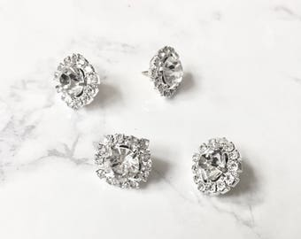 Rhinestone Pushpins for Cubicle/Office/Home (includes 3 push pins)
