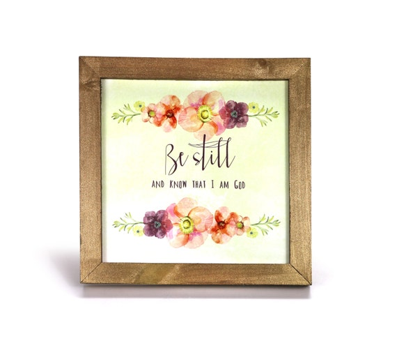 Be Still And Know That I Am God Cubicle Frameoffice Etsy