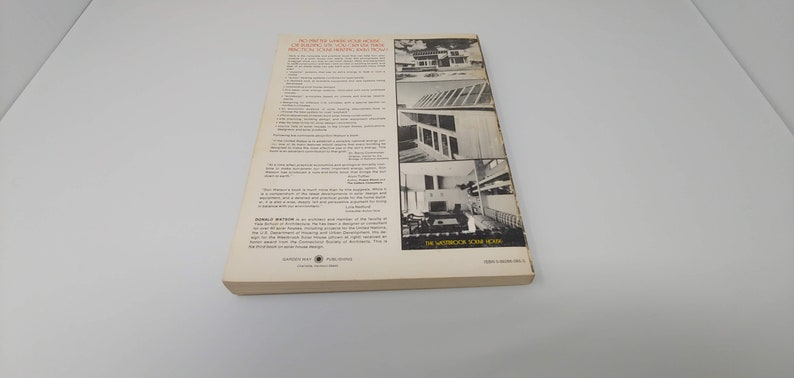 Designing /& Building A Solar House Your Place in the Sun Donald Watson 1977